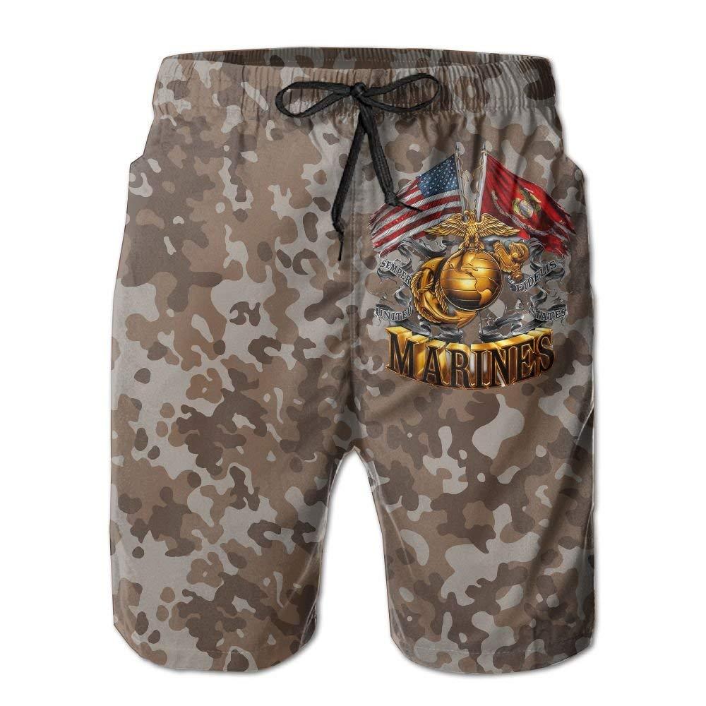 White Marine Corps Camo Men's Board Shorts Shorts Shorts Swim Trunks