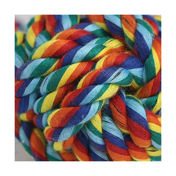 Vivifying 4 Pack Dog Rope Toys, Durable Braided Cotton Pet Chew Rope Toys for Pets Dog Puppy Teeth Cleaning Click on image for further info. 3