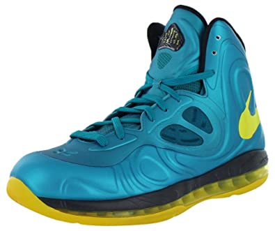 4b102fc7481 Nike  524862-303  Mens AIR MAX HYPERPOSITE Mens Sneakers Tropical Teal SNC  Yellow