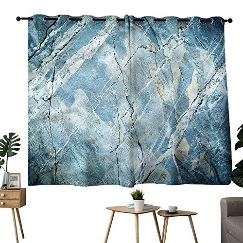 Alexandear Room Darkening Curtains Grommet Curtain Kitchen Window Marble,Granite Stone Artistic Privacy Assured Window Treatment W108 x L72