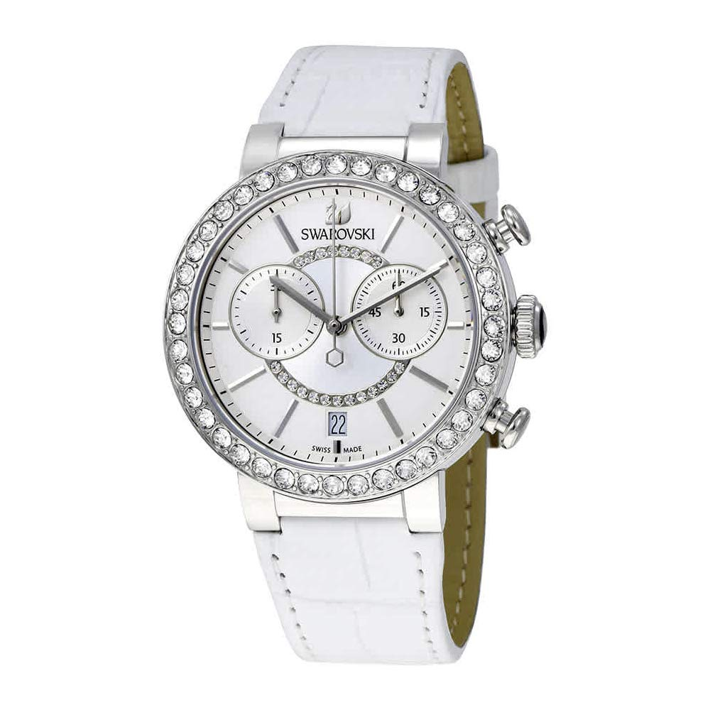 Amazon.com: Swarovski Citra Sphere Chrono White Ladies Watch 5027127: Swarovski: Watches