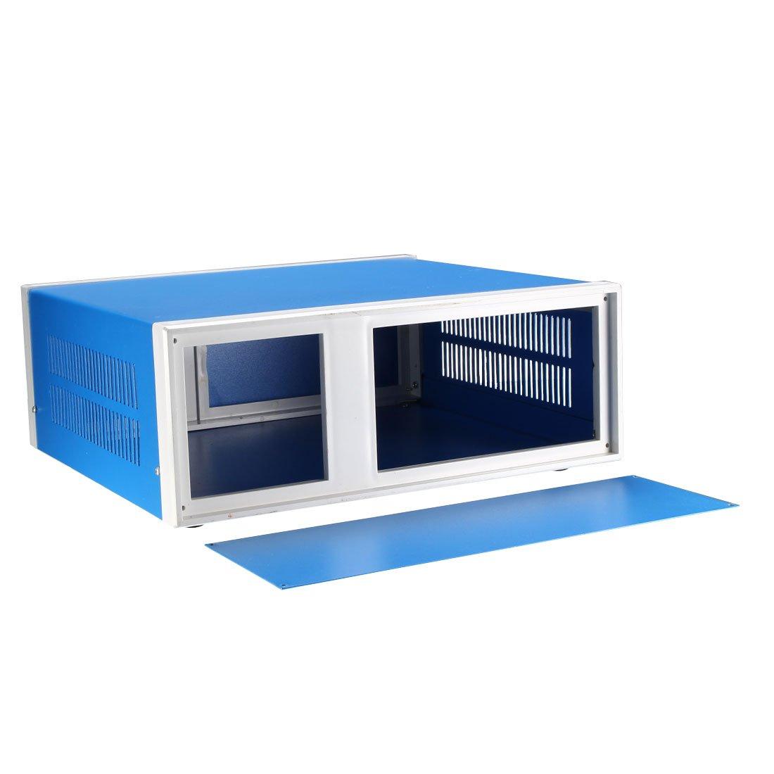 sourcingmap Metal Blue Project Junction Box Enclosure Case 250 x 190 x 110mm//9.84 x 7.48 x 4.33inch