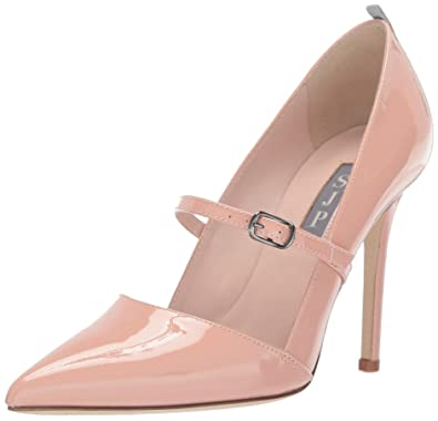 7abcf306bb SJP by Sarah Jessica Parker Women's Nirvana Pointed Toe Mary Jane Pump Bare  Patent Leather 35