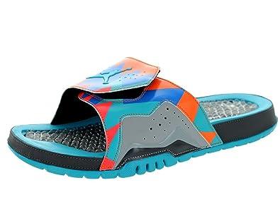 a7da3e8f3724 ... Dark Grey Turquoise Blue Total Orange Mens Sandal 705467  Nike Jordan  Men s Jordan Hydron VII Retro Drk Gry Trqs Bl Wlf Gry ...