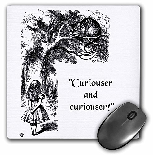 Curiouser and curiouser - Alice in Wonderland Lewis Carroll quote - Mouse Pad, 8 by 8 inches (mp_193785_1) (Mousepad Alice In Wonderland)