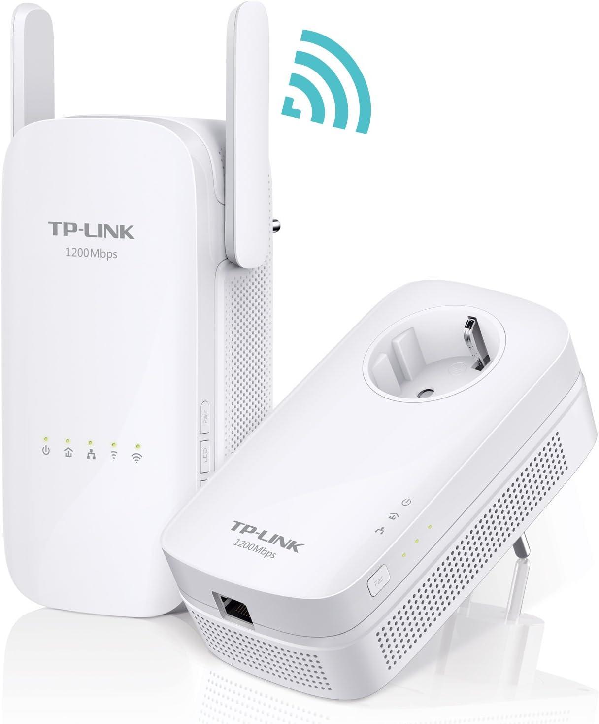 TP-Link AC1350 TL-WPA8630 - Kit Extensor de Red Powerline Ver 2.0(1350 Mbps de Banda Dual, AV1300 Powerline Speed, Gigabit, 2 x 2 MIMO, Plug and Play, ...