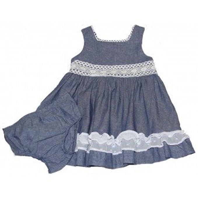 43f5156dc Bonnie Jean - Vestido - para bebé niña azul 3-6 meses  Amazon.es ...