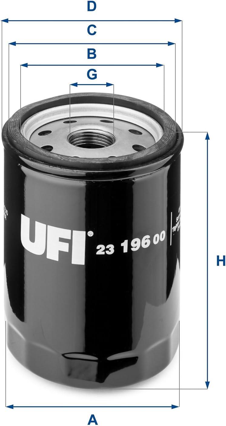 Ufi Filters 23 196 00 Ölfilter Auto