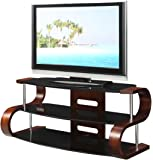 Jual Florence Curved Walnut/Black 50 inch TV Stand
