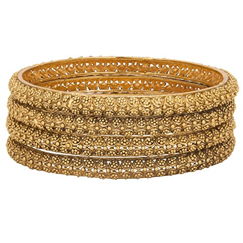 Adwitiya-24k-Gold-Plated-Pure-Antique-Designed-Traditional-Bangle-Set-For-Womens