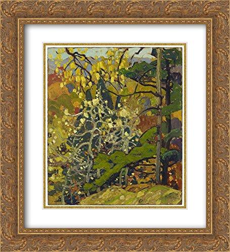Franklin Carmichael 2x Matted 20x24 Gold Ornate Framed Art Print 'Autumn - Franklin Galleria