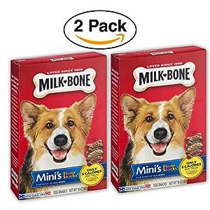 2 Pack – Milk-Bone Mini's Flavor Snacks Beef, Chicken & Bacon Flavored Biscuit Dog Treats