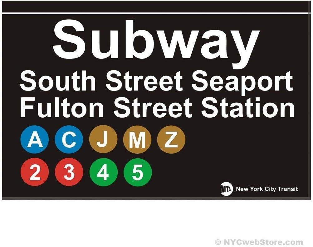 EpochSign South Street Seaport NYC Subway Sign York City Mta Station R/éplique Cadeau Street Sign 8X12