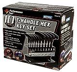 Performance Tool W80275 Metric T-Handle Hex Key Set, 10-Piece