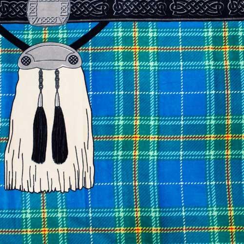 "MDgolf Instakilt Luxury Beach Towel, Bannockburn Blue, 60"" x 30"""