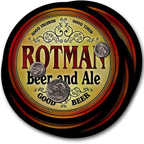 Rotmanビール& Ale – 4パックドリンクコースター   B003QXESX8