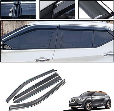 For Nissan Kicks 2017 2018 Car Window Rain Visor Vent Guard Shield Covers Trim