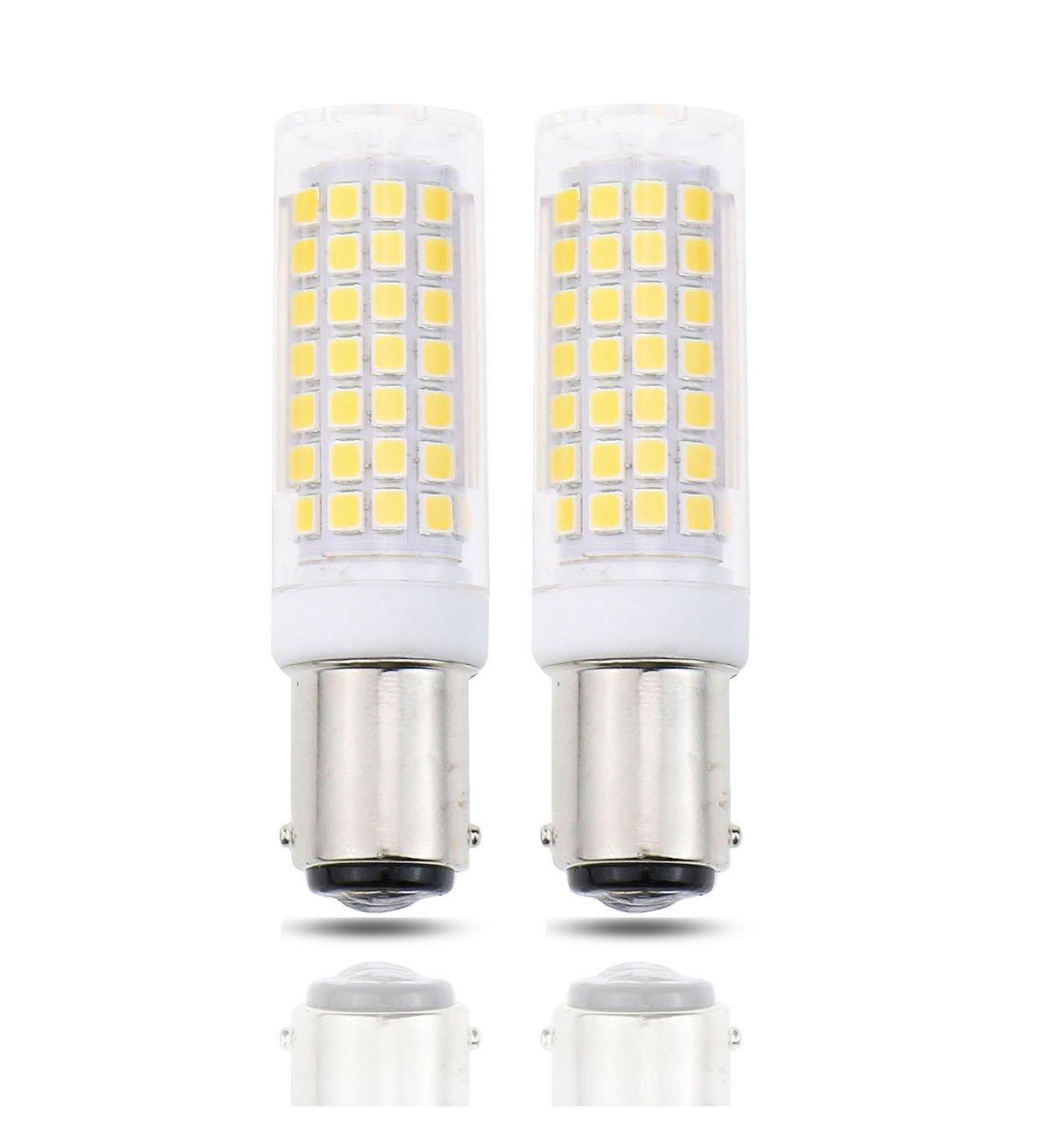 Lamsky BA15D LED Bulb,7 Watt 650 Lumens,70W Halogen Bulb Replacement,Warm White 3000K,Double Contact Bayonet Base,120V 220V Voltage Input,No Flicker,CRI>85(Pack of 2)