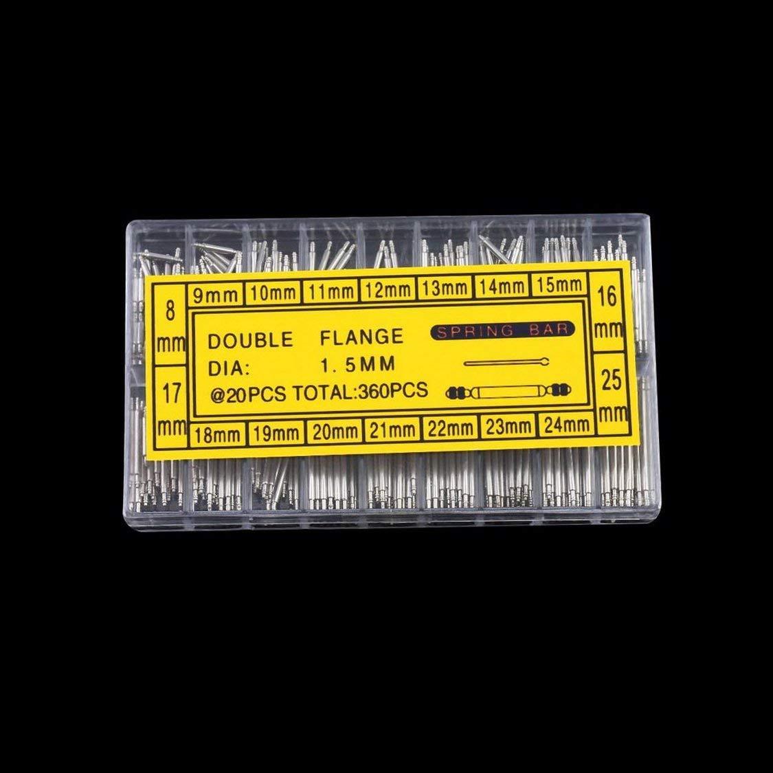 Vige Professionelle 360 st/ücke 8-25mm Uhrenarmband Fr/ühling Bars Strap Link Pins Entfernen Reparatur Uhrmacher Uhr Reparatur Werkzeuge