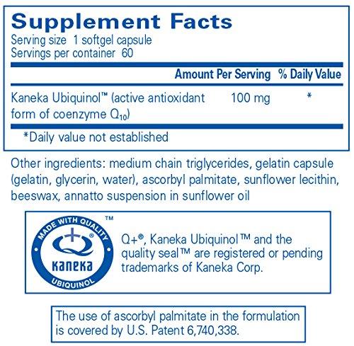 Pure Encapsulations - Ubiquinol-QH 100 mg - Hypoallergenic Supplement - Active Antioxidant Form of CoQ10 - 60 Softgel Capsules Discount