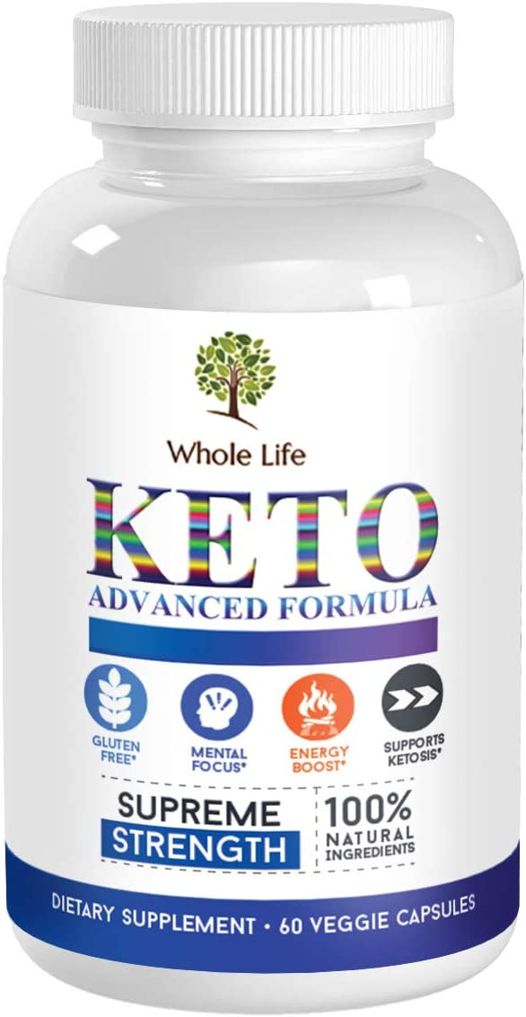 Whole Life Keto Advanced Formula Diet BHB Pills – Ketogenic All Natural, Support Metabolism, Manage Cravings Keto BHB Supplement for Men Women – Utilize Fat for Energy with Ketosis, 60 Capsules