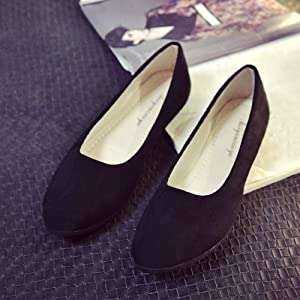 Amlaiworld Zapatos Planos Mujer Alpargatas Bailarinas Zapatillas sin Cordones para Mujer Zapatos Casuales Mocasines Zapatillas Zapatos de Cordones Calzado