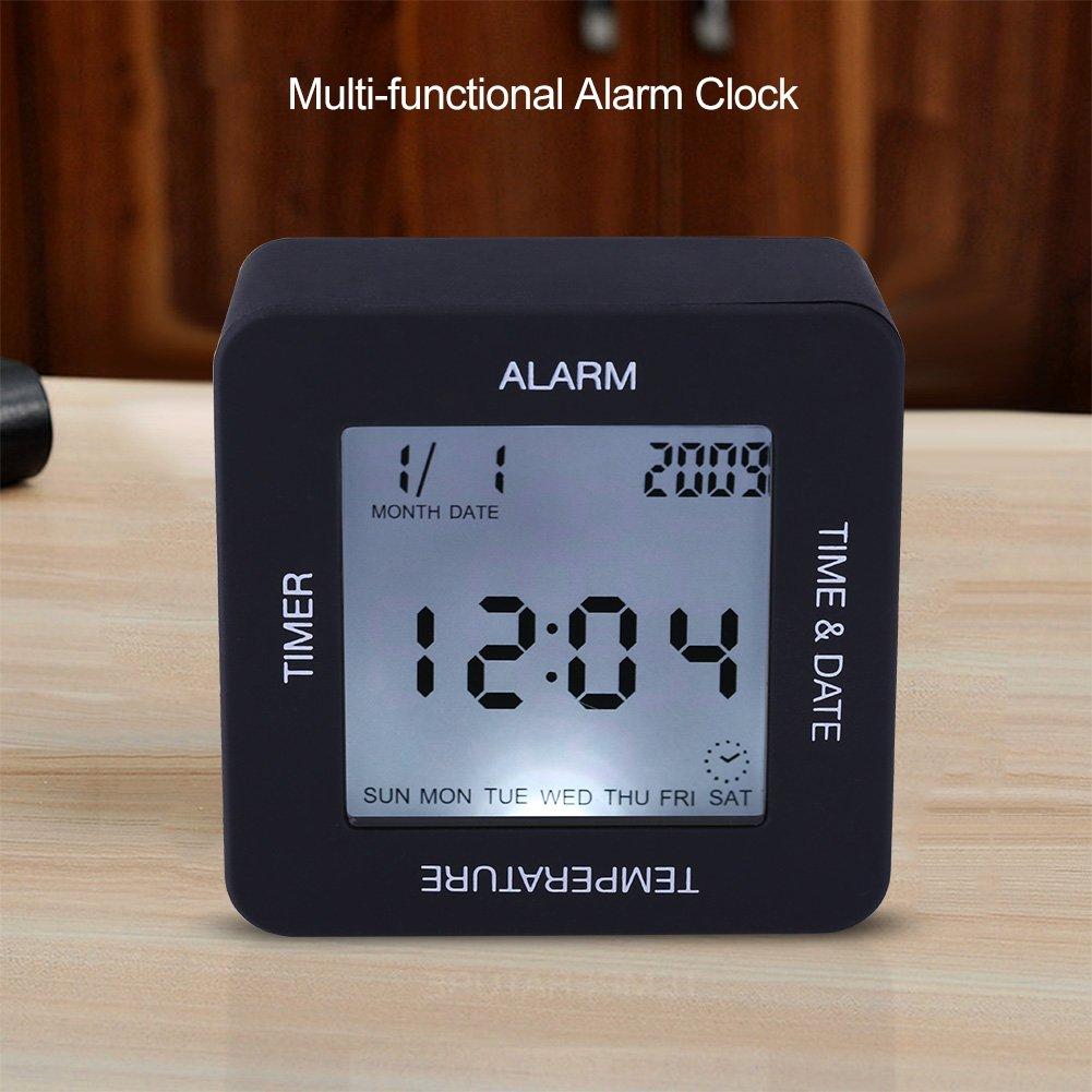 Fdit - Reloj Despertador Digital Multifuncional con Pantalla LCD y Sensor de Rotación, con Temporizador de Temperatura: Amazon.es: Hogar