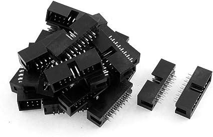 10 x 14-Way IDC Straight Pin Boxed Header 2.54mm