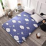DHWJ Cotton,Folding,Thickening, Student mat Tatami mattress-D 150x200cm(59x79inch)
