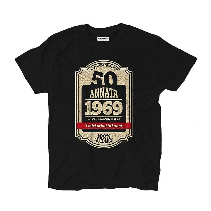 nobrand - Camiseta de 50 cumpleaños nacido en 1969 Negro XL ...