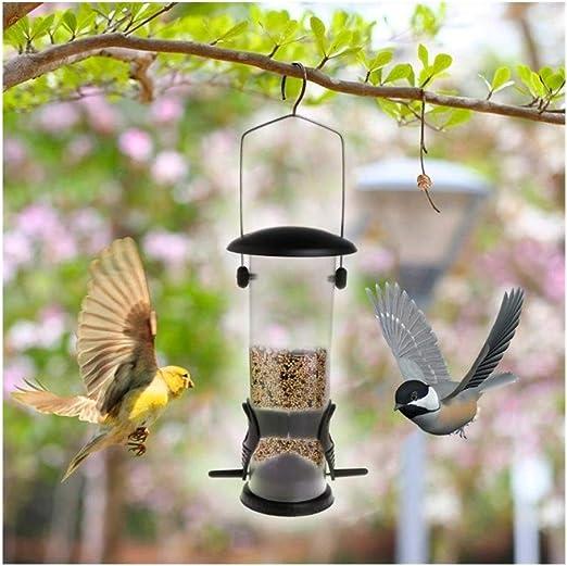 7°MR casa pajaros Comedero for pájaros PVC Mango de Hierro Colgando Árbol Parque Jardín Aves Silvestres Alimentación Al Aire Libre Portátil Fruta Alimento Contenedor de Verduras: Amazon.es: Jardín