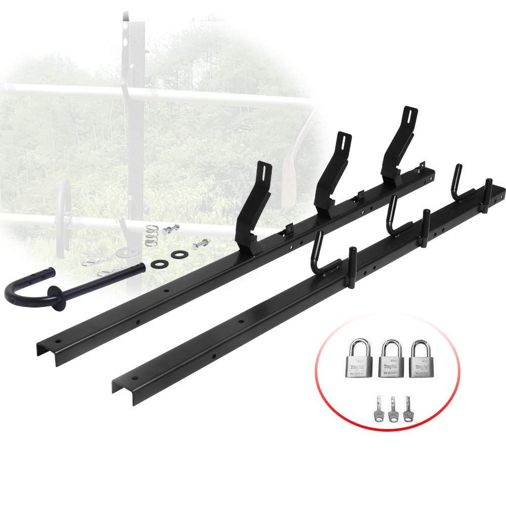 NIXFACE 3 Place Open Landscape Trailer Trimmer Rack with Locks New
