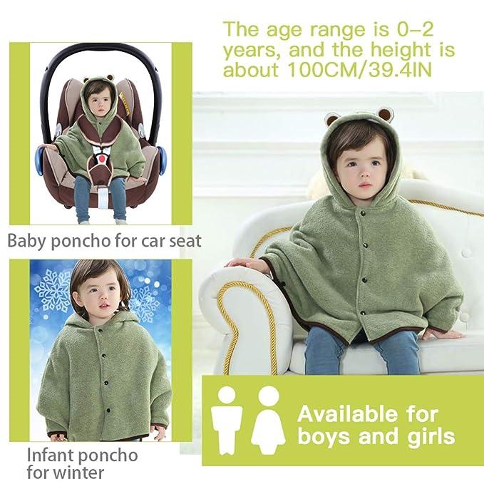 warm winter coat alternative hooded shark fleece car seat poncho 6-12 mo Halloween costume kids dress up gift idea