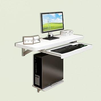 Coffee Tables CAICOLOUR - Mesa de Ordenador para Montar en la Pared, para Ordenador portátil