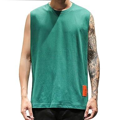 SUDADY Camisetas de Tirantes para Hombre, Camisetas sin Manga ...