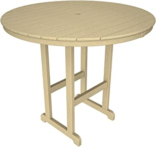 product image for POLYWOOD RBT248SA Round Bar Table, 48-Inch, Sand