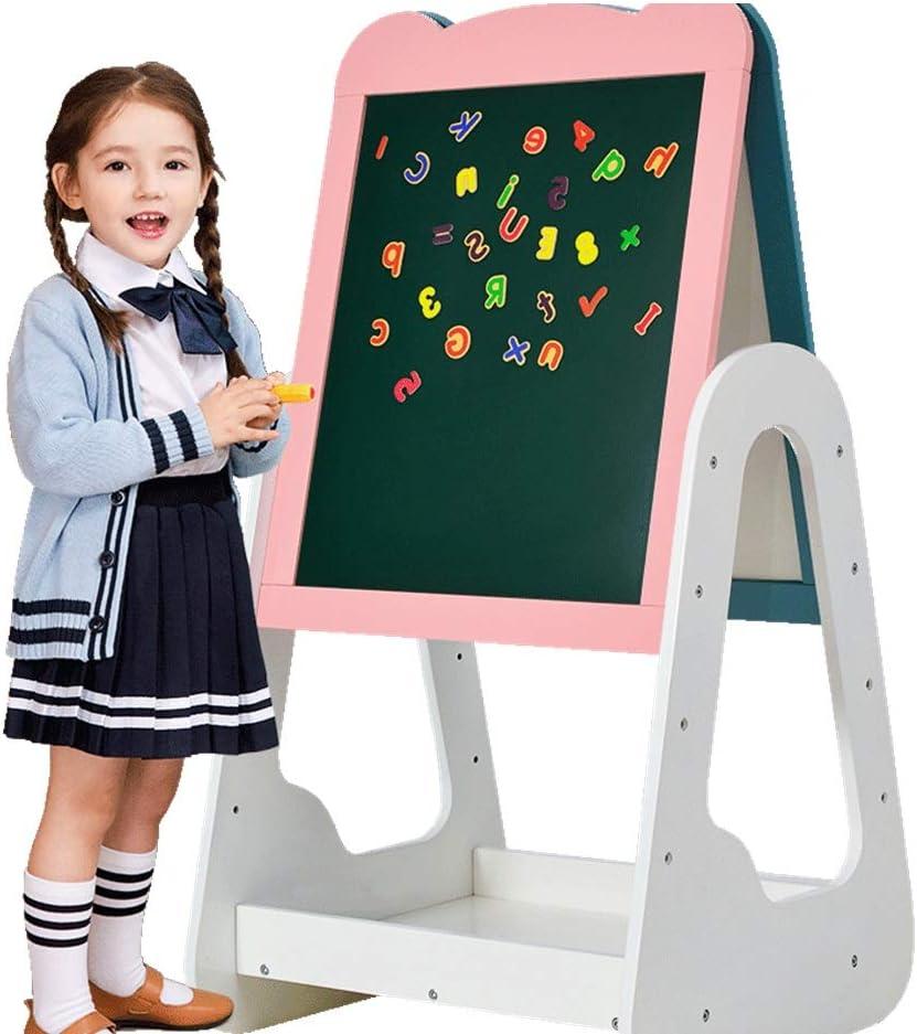 お絵かきボード 安定したアートイーゼルダブルイーゼル木製の高さが調節可能な絵画製図板子供の味方しました 教育玩具 (Color : One color, Size : One size)