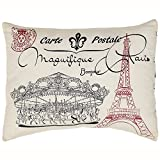 Elysee Stencil Paris Pillow 14x18