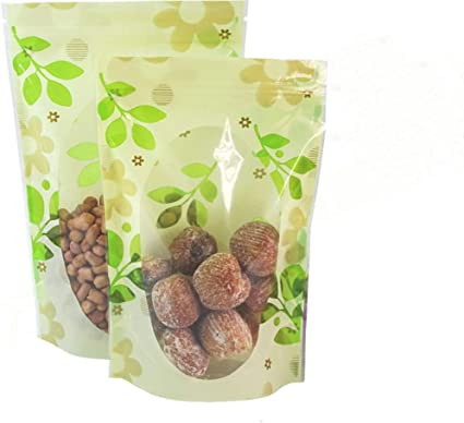 Sealable Stand Up Flower Printed Food Grade Packaging Plastic Pouch Ziplock Bag