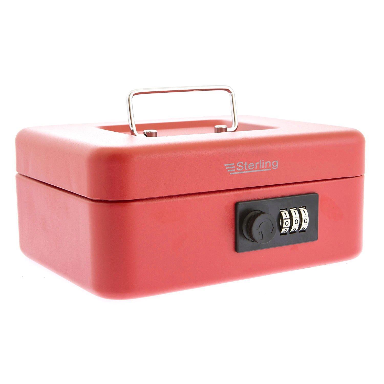 Sterling Locks –  Caja de caudales de 701978 –  Candado de combinació n, Color Rojo CB02CR