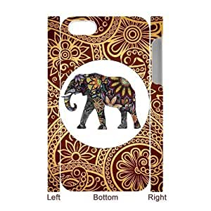 Customized Durable Case for Iphone 4,4S 3D, Indian Elephant Phone Case - HL-R644345 wangjiang maoyi