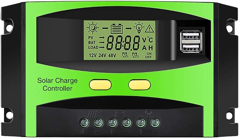 Amazon.com: 30 A driver de cargador Solar Panel Solar ...