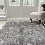 Lavish Home 62-GRE335 Shag Area Rug, Grey, 3'3″ x 5′ For Sale