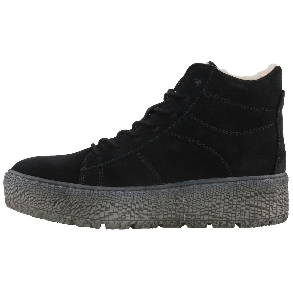 Tamaris Damen Sneakers Plateau High-Top Sneakers Damen gefüttert Schwarz - 8311aa