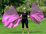 FUCHSIA Metallic Angel Wing Catch the Fire Worship Flags (single layer; pair)
