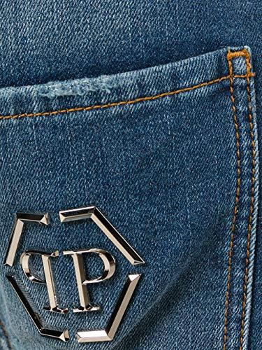 Plein Mdt0073pde012n20 Cotone Blu Uomo Philipp Jeans xZfxBT
