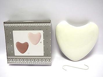 1 humidificador con forma de corazón Radiador vaporizador cerámica humidificadores Estufa Calefactor: Amazon.es: Hogar