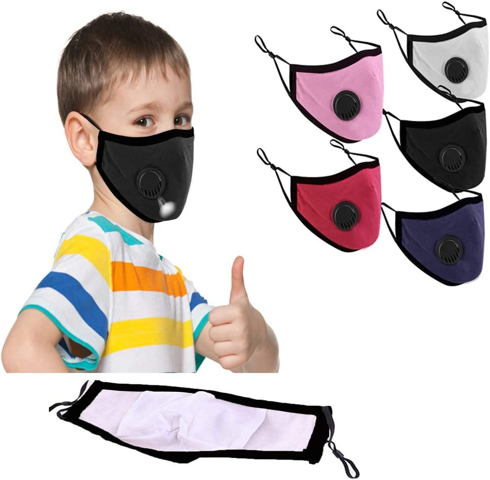 Ussuma 3 Pack Children Washable and Reusable M/àcks for Kids Boys Girl Students Cotton Macks Face Outdoor Indoor Face Bandanas