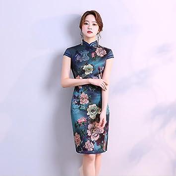 YAN Vestido de Mujer Vestido Largo de Fiesta de Noche para Mujer Cheongsam Qipao Cocktail Cocktail
