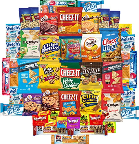 Snackland Care Package Variety Pack Bulk Sampler (50 Count)